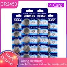 Piles bouton 100% originales, 20 pièces, CR2450 3V, pour calculatrice, ordinateur, KCR2450 5029LC LM2450