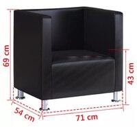 VidaXL Armchair Leather Couch Living Room Sofa Chairs Modern Furniture Living Room Set China Free Shipping Metal Leg Sofas Black