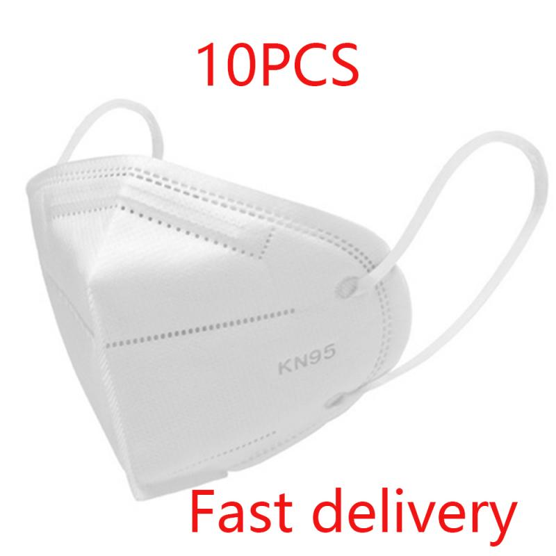 10Pcs KN95 Mask Respirator Face Mask Anti Dust N95 Mask Activated Carbon PM2.5 Filter Proteccion Respirator PK Ffp3 Fpp3 Mask