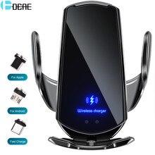 Chargeur de téléphone sans fil pour voiture, automatique, avec support magnétique, capteur infrarouge USB, 15 W, Qi, pour IPhone 12 11 XS XR X 8 Samsung S20 S10,