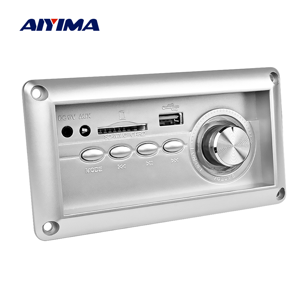 AIYIMA Multi Function Bluetooth MP3 Player Decoding AUX Lossless Decoder Board With FM DIY For Amplifiers Board Home Theater