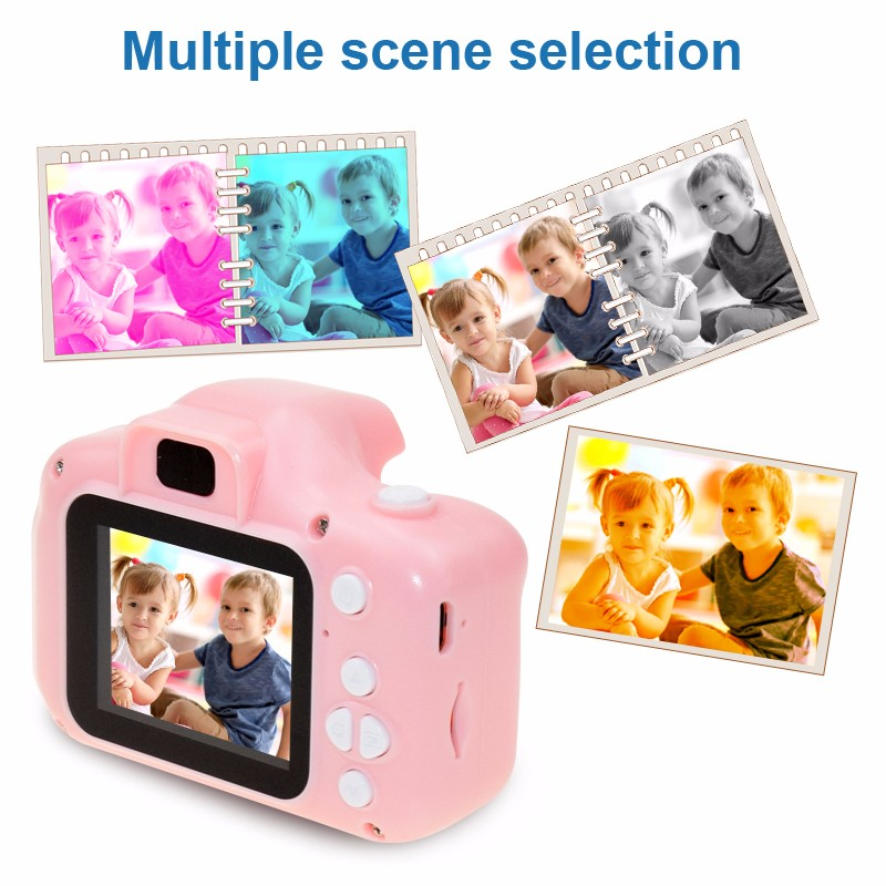 Mini Cartoon Photo Camera Toys 2 Inch HD Screen Childrens Digital Camera Video Recorder Camcorder Toys for Kids Girls Gift