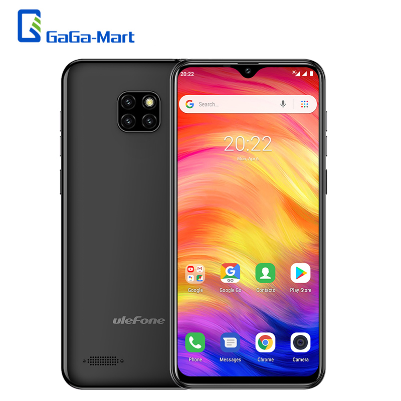 Ulefone Note 7 6.1inch 19:9 16GB ROM Triple Rear Cameras Android 8.1 Quad Core 3500mAh Dual SIM Face Unlocked Smartphone-in Cellphones from Cellphones & Telecommunications    1