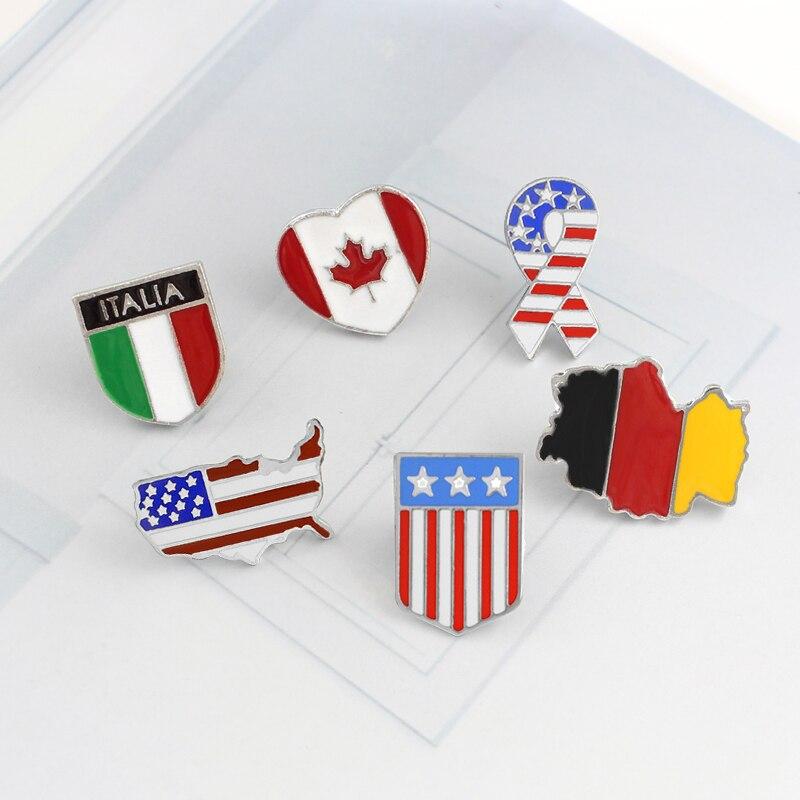 胸针国旗2