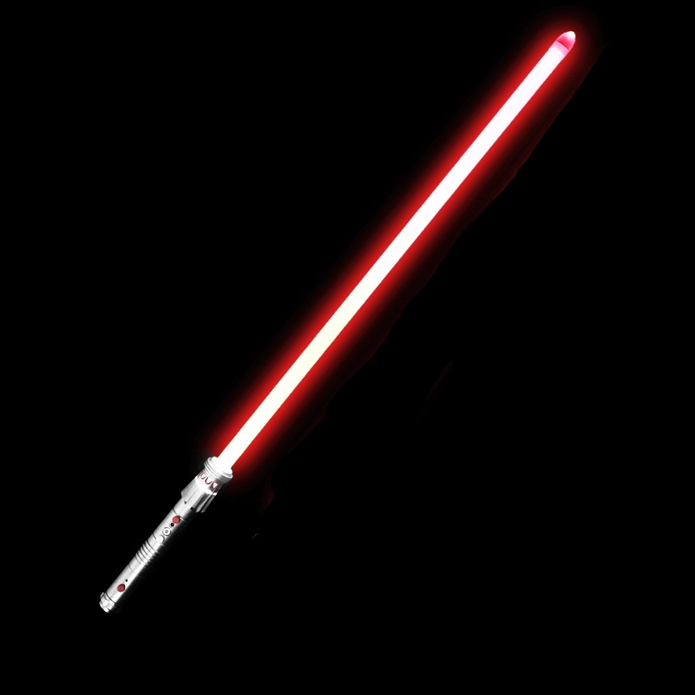 Darth Maul Metal Hilt Heavy Dueling 1 Hanlde With 1 Inch 82cm Blade Lightsaber With Red Light