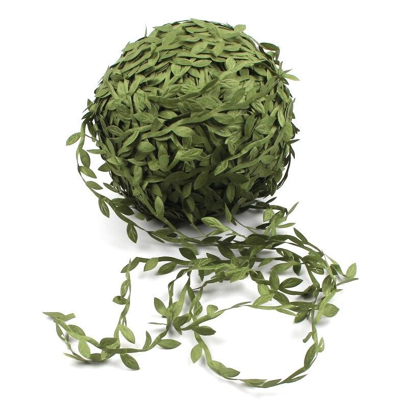 10 м шелковые листья ручной работы искусственные зеленые листья сделай сам для свадебной коробки украшения листва ручной работы ремесло вен...