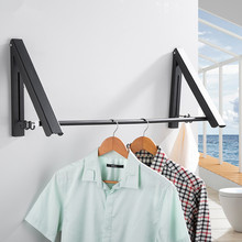 LIUYUE Folding Home Laundry Adjustable Drying Rack Retractable Punch Free Balcony Tool Multifunction Clothes Hanger Indoor