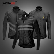 WOSAWE High Visibility Motorcycle Jacket Waterproof Reflective Motorbike Jacket Windbreaker Wind Coat Motocross Racing Mens