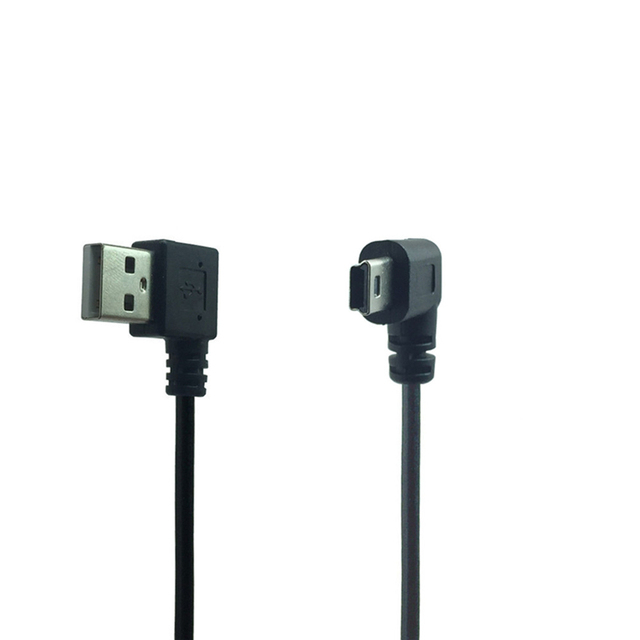 Mini USB Cable 90 Degree Right Angle for MP3 Bluetooth Speaker Charger Mini Usb Power Cable Usb Left Angled Mini Charging Cable