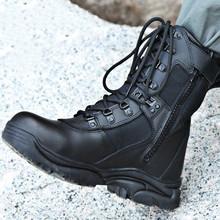 2021 nowy model czarny buty wojskowe buty wojskowe półbuty męskie piechoty buty taktyczne buty wojskowe tanie tanio Akexiya Desert Boots CN (pochodzenie) Mikrofibra ANKLE GEOMETRIC Dla dorosłych Mesh Okrągły nosek RUBBER Wiosna jesień