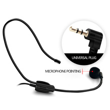 Headphone microphone cable lavalier wired / conference room classroom outdoor
