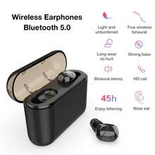 X16 Bluetooth 5.0 TWS Sports Headset Wireless Gaming Mini Earbuds Stereo HiFi Handsfree Call Earphones With 2200mAh Charging Box(China)