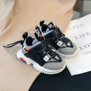 Image 3 - 2020 ילדים חדשים נעלי פעוט בנות ילד סניקרס תחרה עד עיצוב רשת לנשימה ילדי טניס אופנה קטן תינוק נעליים
