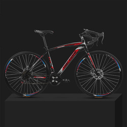 26-inch 21 Speed Road Bicycle Dead-Flying Front and Rear Mechanical Disc Brake 30 Knife Wheel Solid Tire Student Adult Bike