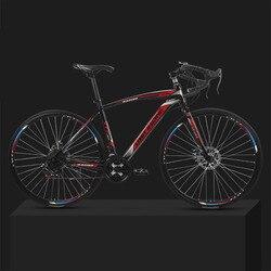 26-polegada 21 Velocidade Da Bicicleta Da Estrada Morto-Voando 30 Freio A Disco Mecânico Dianteiro e Traseiro Roda Faca Sólida pneu Estudante Adulto Bicicleta
