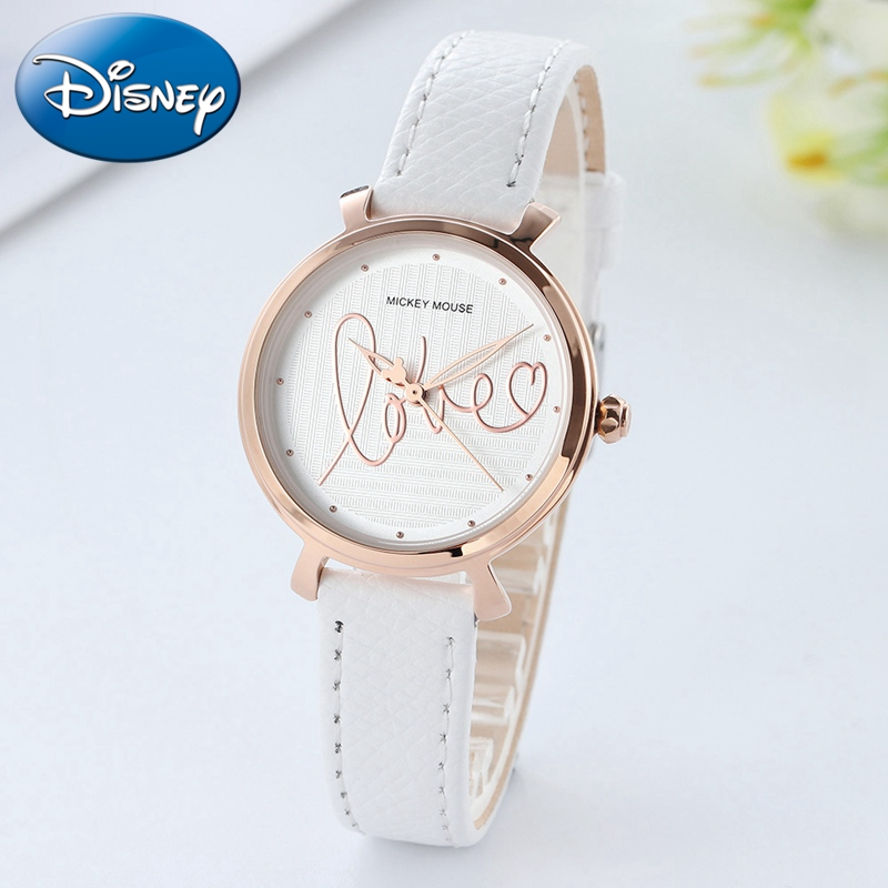 Girls Love Leather Strap Quart Round Kids Watches Lady Girl Birthday Gift Wristwatch Reloj Nina Teen Children Clock Sweet Heart