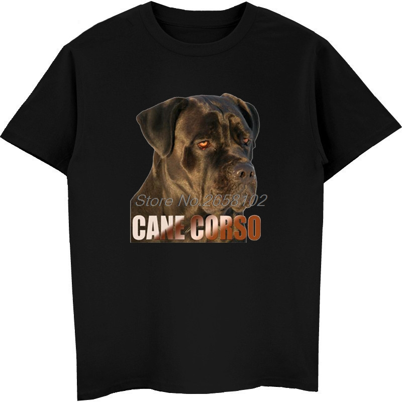 Cane Corso Dog Print T-shirt Men Short Sleeve O-neck Cotton T Shirt Summer Casual Shirt Hip Hop Tees Tops Harajuku Streetwear