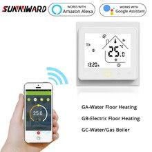 Интеллектуальный Wi-Fi термостат контроллер температуры воды Электрический пол горячей воды газовый котел и эхо Google Home
