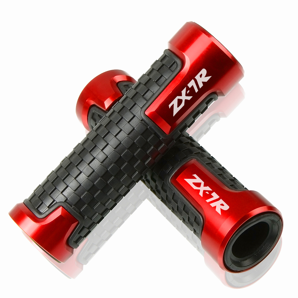High Quality 7/8'22MMCNC Aluminum & Plastic Hand 22mm Motorcycle Handlebar Grips Handle Bar Motorbike For Kawasaki ZX7R Zx7r