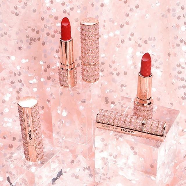 Perle diamant rouge à lèvres antiadhésif tasse imperméable à leau longue durée hydratant mat rouge à lèvres maquillage charmant Texture lisse