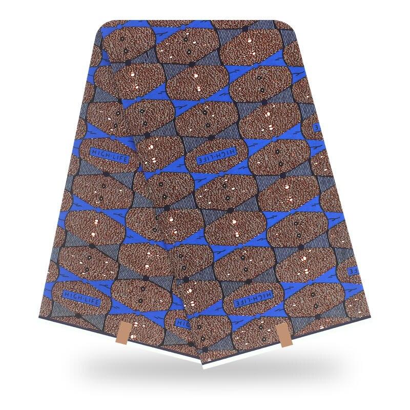 2020 African High Quality Real Dutch Wax Nigeria Ankara 100% Cotton Material Guaranteed Nederlands Dutch Wax Fabric 6 Yards\lot