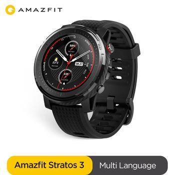 Nuevo smartwatch Amazfit Stratos 3 GPS 5ATM Bluetooth música ritmo cardíaco modo Dual 14 días batería para Android 2019