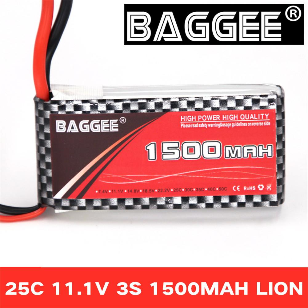 Kuulee BAGGEE High Rate 25C <font><b>3S</b></font> 11.1V <font><b>1500MAH</b></font> Polymer Lithium Battery for RC Vehicle/Ship/UAV/Crossing Aircraft image