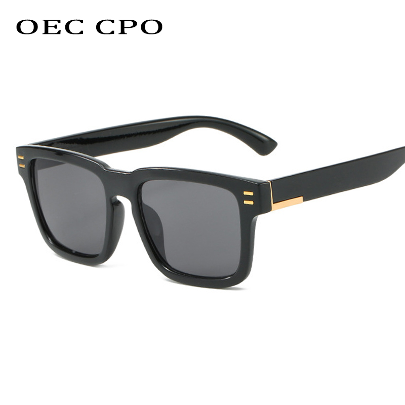 OEC CPO 2019 New Men Oversized Square Sunglasses for Men Vintage Black Glasses Retro Si Fang Sunglasses Female Eyewear O176 in Men 39 s Sunglasses from Apparel Accessories