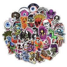 50 Pcs Vinyl Cool Horror Stickers Laptop Terror Sticker Pack for Car Bumper�Luggage Water Bottle Helmet Phone Fridge Bike Decals