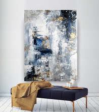Large Abstract Painting Modern abstract painting oil hand office wall art original textured Hand Painted