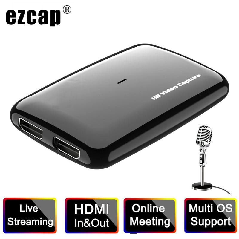 EZCAP301 4K 1080P 60FPS HD HDMI USB 3.0 Video Capture Card Grabber For XBOX PS3 PS4 TV Programs Medical Recording Live Streaming
