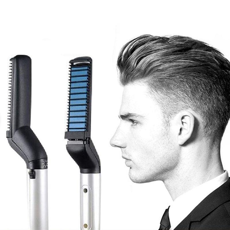 Multifunctional Hair Comb Brush Beard Straightener Hair Straighten Straightening Comb Hair Curler Quick Hair Styler For Men