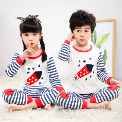 Kids Toddler Boys Girls   Pajamas   2 Piece Pyjama Tops and Pants   Sets   100% Cotton Sleepwear Nightwear Children Clothing Clothes   Set