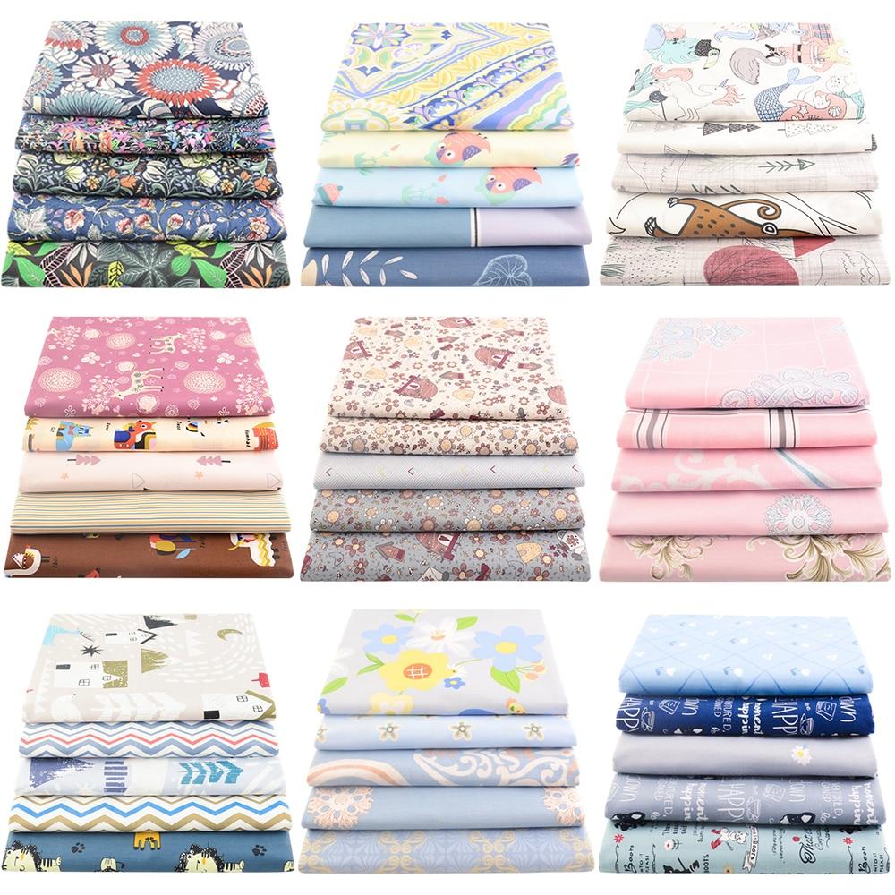 5 шт. в упаковке, 40*50 см, хлопковая ткань с принтом, шитье для полных четвертей, подушка, стеганая, домашний текстиль, Швейные аксессуары