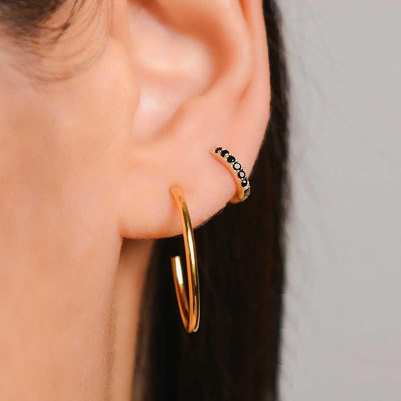 간단한 사랑스러운 여자의 Huggies 작은 농구 귀걸이 스키니 레인보우 Boho 클래식 최소한의 매력적인 귀걸이 스터드 얇은 농구 선물