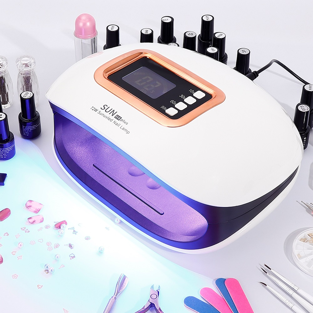 72W UV Lamp LED Nail Lamp With 36 LEDs Two Hand Lamp Nail Dryer Manicure Curing Nail Gel Polish Auto Sensor Clear Time Display
