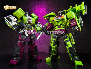Image 5 - JinBao دمر التحول G1 GT كبيرة الحجم 6IN1 Bonecrusher قصاصات الجاذبية Mixmaster هوك كو عمل الشكل ألعاب روبوتية