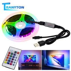 Bande de LED à distance Bluetooth musique 50CM 1M 2M 3M 4M 5M RGB 5050 bande de lumière Flexible USB TV éclairage de fond
