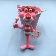 2019 Cute Cartoon Pink Panther Key chain For Women Children Lovely Resin key Ring Pendant Charms Fit For Bag Purse Accessories цена