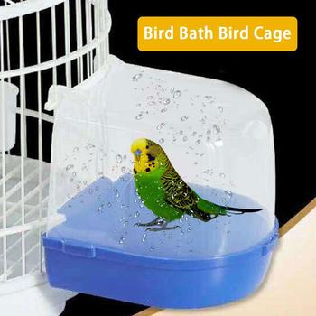 1Pcs Plastic Bath Bird Cage Parrot Supplies Anti-aging Bathing Tub For Small Birds Canary Budgerigar 1
