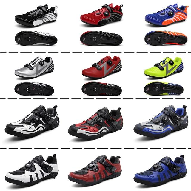 Sapatos masculinos para ciclismo de estrada, calçados para bicicleta de montanha, mtb, mountain bike, tênis de corrida triathlon 5