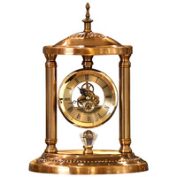 Luxury Retro Table Clocks Vintage Classical Pendulum Desk Clock Decorative Table Clock Metal Silent Clock On The Table For Study