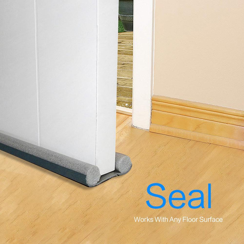 AUGKUN 3pcs Door Seam Bottom Seal Soundproof And Dust-proof Strip Double-sided Door Draft Stopper For Security Door