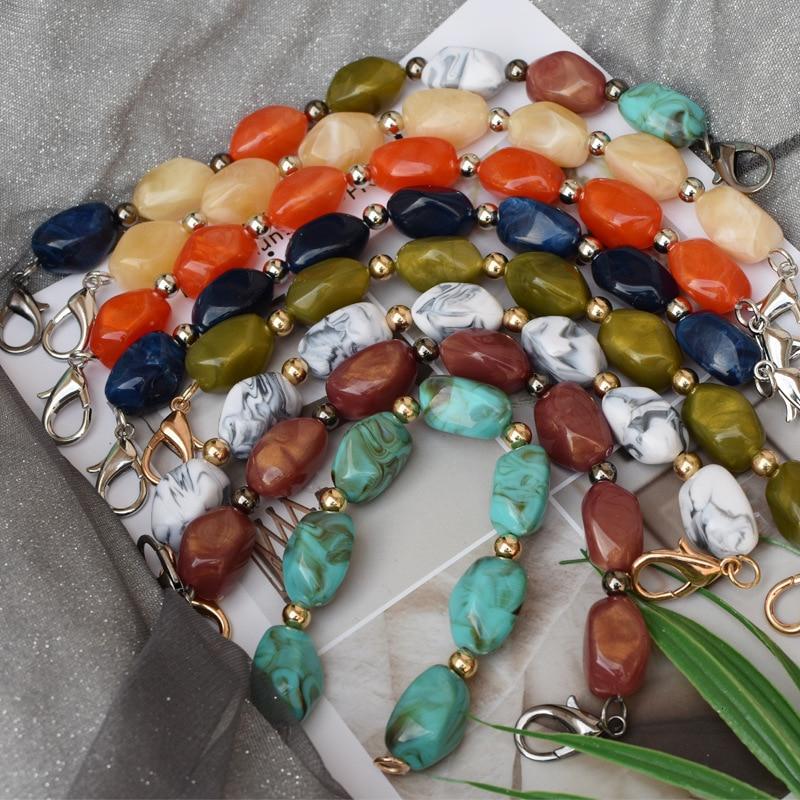 Tide Package Fashion Chain Strap Stone Pattern Diy Irregular Second Gram Force Bag Decoration 1.5cm*2.5cm Single Shoulder