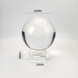 Clear Crystal Ball With Stand High Quality K9 Crystal Glass Ball With Stand For Photography Prop