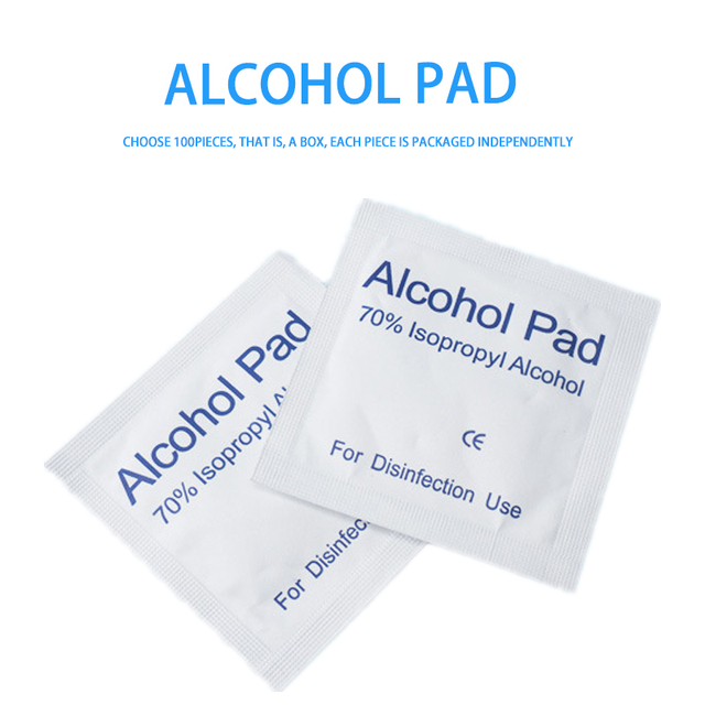 3X100Pcs/lot Alcohol Wet Wipe Disposable Disinfection Swap Pad Antiseptic Skin Cleaning Care First Aid Jewelry Phone Clean Wipe 1