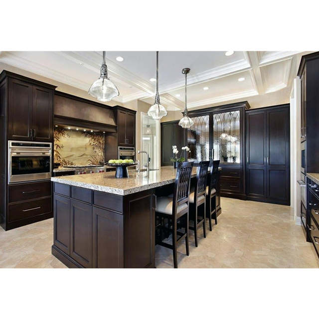 American standard customized shaker style solid wood kitchen cabinet
