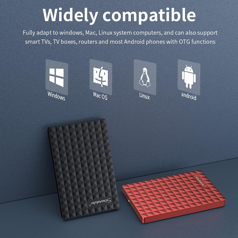 Внешнего жесткого диска 1 ТБ usb 3,0 внешнего жесткого диска 2 ТБ 500G высокого диско для внешних HDD usb оригинальный запоминающее устройство