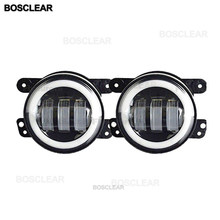 "2Pcs LED 4 ""dengan Halo DRL Lampu Kabut Lampu 30W untuk 2007-2014 Jeep Wrangler JK LJ Rubicon Sahara Dodge Journey Chrysler(China)"