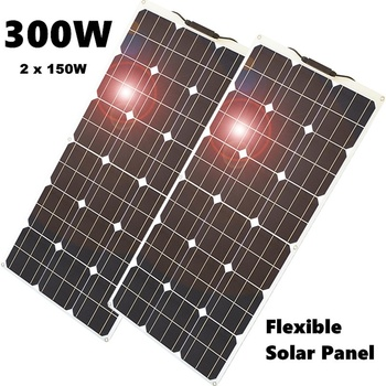 цена на Newly High Efficiency 300W 150W Solar Panel Flexible Solar Panel Controller  for RV/Boat/Car/Home 5V/12V/24V Battery Charger